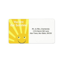 You Are Our Sunshine Address Label