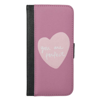 You Are Perfect Customizable Cashmere Rose Pink iPhone 6/6s Plus Wallet Case
