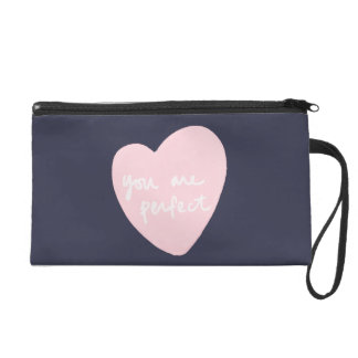 You Are Perfect Customizable Color Reflecting Pond Wristlet Purse