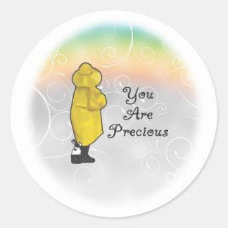 You Are Precious Round Stickers