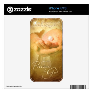 You are PRECIOUS TO GOD - Christian art iPhone 4 Decal