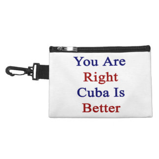 You Are Right Cuba Is Better Accessory Bag