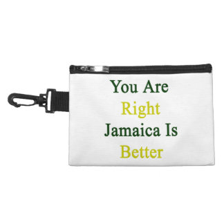 You Are Right Jamaica Is Better Accessories Bag