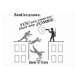 You Are Smarter Than Any Zombie Postcard