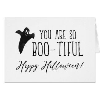 You Are So Boo-tiful Happy Halloween Card