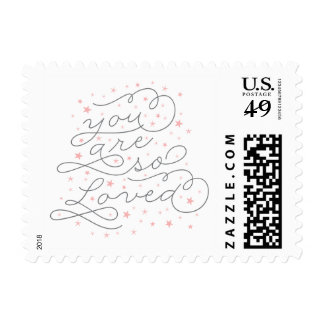 You Are So Loved Pink Baby Shower Postage