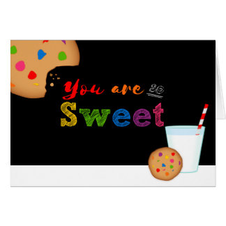 You Are So Sweet Milk and Rainbow Cookies Card