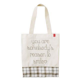 You Are Somebody's Reason To Smile HEART Tote Bag
