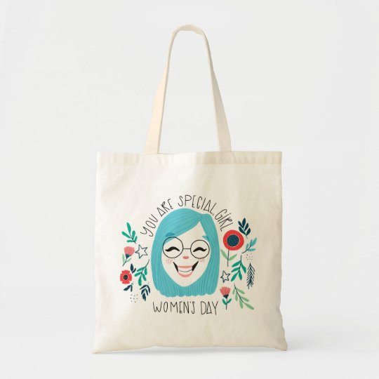 You Are Special Girl, Happy Women's Day, March 8 Tote Bag