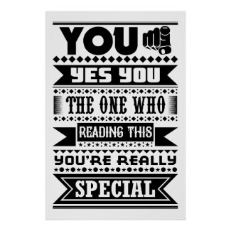 You Are Special (Motivational Quote) Poster