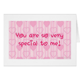**YOU ARE SPECIAL TO ME** CHRISTMAS GREETING CARD