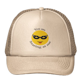 You are staring at me! trucker hat