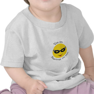 You are staring at me! tee shirts