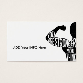 You Are Stronger Than You Think Business Card