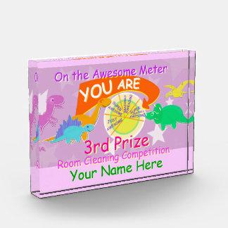 You are Super Amazingly Awesome Cartoon Dinosaurs Acrylic Award