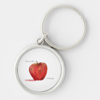 You are the Apple of my Eye Keychain