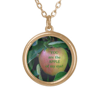 """YOU ARE THE APPLE OF MY EYE"" NECKLACE"