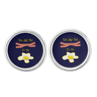 You Are The Bacon To My Egg Cufflinks