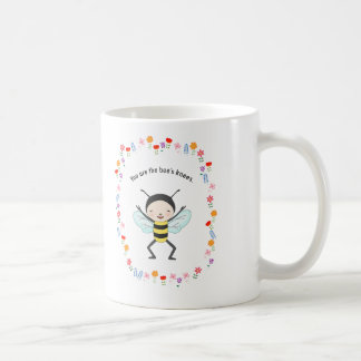 You are the bee's knees Cute Funny Honey Bee Mug
