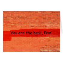 """You are the best, Dad"" Father's Day Customizable Card"