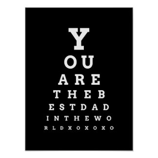 You are the Best Dad in the World eye chart