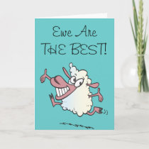 You Are The Best Ewe Pun Sheep Card