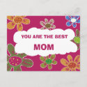 YOU ARE THE BEST MOM postcard