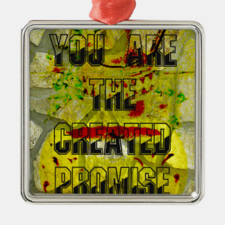 You are the created promise metal ornament