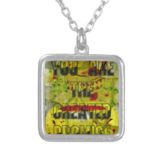 You are the created promise square pendant necklace
