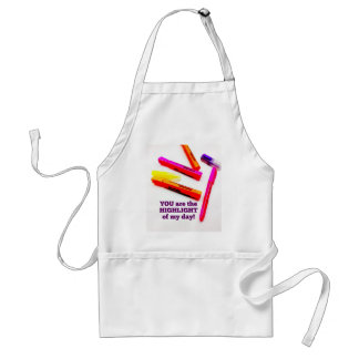 YOU are the HIGHLIGHT of my Day Encouragement Gift Adult Apron
