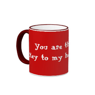 """""""You are the key to my heart"""" template mug"""