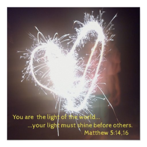You Are The Light Of The World  Poster