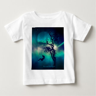 You Are the Light Turquoise Baby T-Shirt