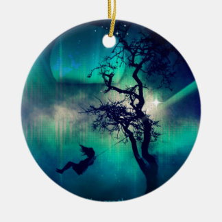 You Are the Light Turquoise Ceramic Ornament