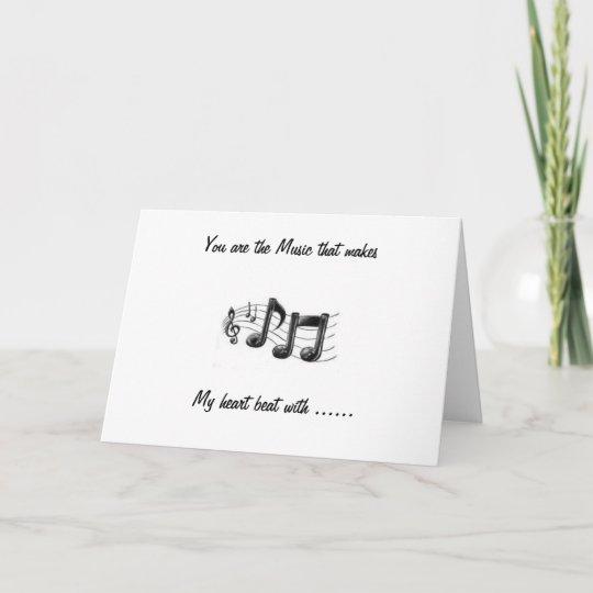 you are the music happy anniversary card zazzle com