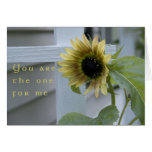 You are the one Card-Sunflowers