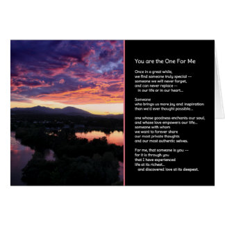You Are the One For Me...Romance Greeting Card