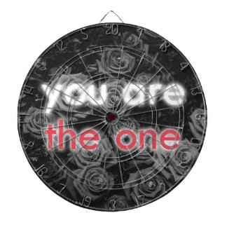 """""""You are the One"""" Valentine's roses gift Dart Board"""