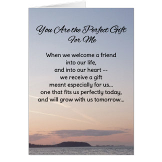 You Are the Perfect Gift For Me...Friendship Card
