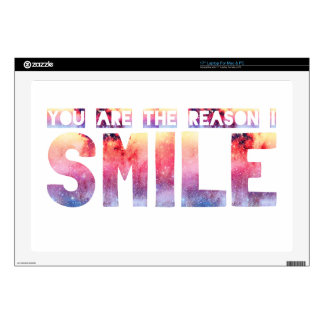 """You Are The Reason I Smile 17"""" Laptop Decal"""