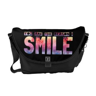 You Are The Reason I Smile Messenger Bag