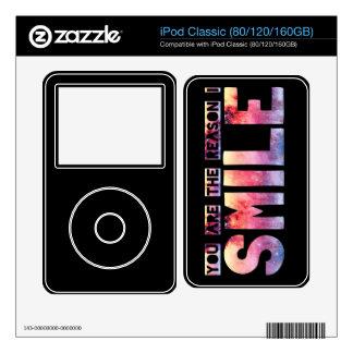 You Are The Reason I Smile iPod Skin