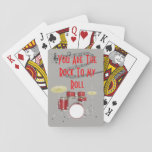 "You Are The Rock To My Roll Drummer Playing Cards<br><div class=""desc"">Fun and festive, especially if you would like a laugh as you hand out these to your friends. These also make a really neat gift. If you need a different design feel free to contact me. I will design any item on Zazzle at no additional cost to you, then you...</div>"