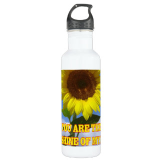 You are the Sunshine of My Life Sunflower Stainless Steel Water Bottle