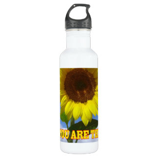 You are the Sunshine of My Life Sunflower Water Bottle