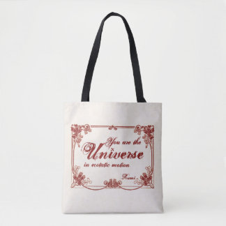 """You are the Universe"" Rumi Tote Bag"