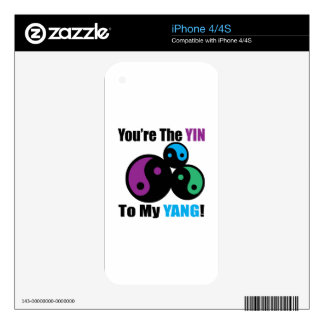 You are the Yin to my Yang Decals For The iPhone 4