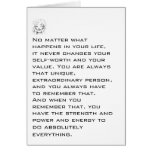 You Are Unique and Extraordinary Stationery Note Card