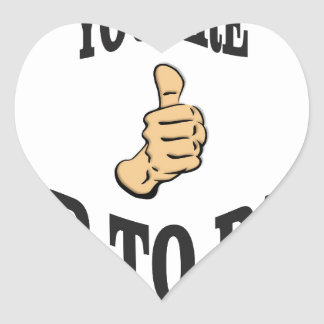 you are up to par heart sticker