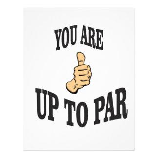 you are up to par letterhead